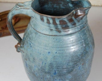 Large One Gallon Slate Blue Pitcher - Made to Order