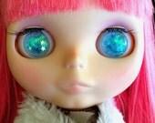 Blue Star Resin Glitter Eye Chips for Blythe or Byul