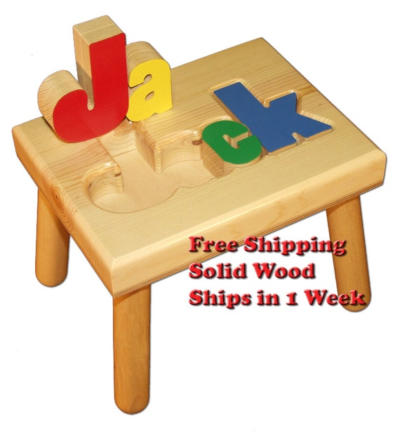 Child S Name Puzzle Stool Free Shipping Item By Damhorsttoys