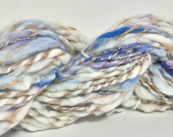 Handspun Yarn. Blueberry Ambrosia. 58 yards Super Bulky Weight