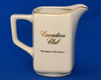 Vintage Canadian Club Ceramic Pitcher