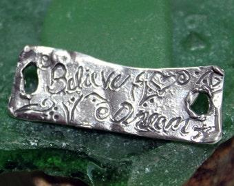 SALE  Believe Dream Sterling Silver Heavy Link 001/LL916