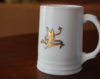 Smaug the Golden Dragon Small Porcelain Stein