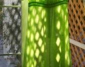 Vintage 20s Cotton Lawn Tea Dress Apple Green Edwardian Belle Epoque