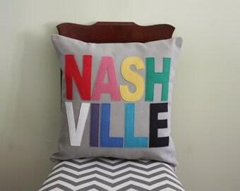 City Pillows // Custom City Pillows // Nashville // Austin // Boston // Chicago // Los Angeles // New York // Portland // Seattle