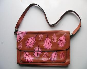 Pink leaf bag
