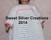 18 inch American Girl Crochet Pattern - Nightgown with Bunny Slippers