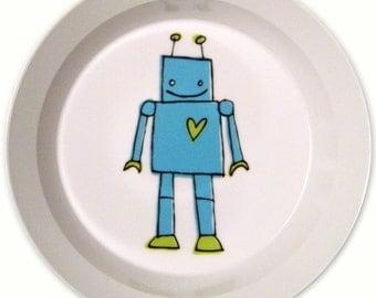 Robot Bowl - Blue - BPA Free