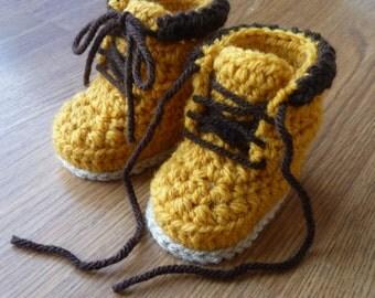 Custom Crochet Baby Work Boots