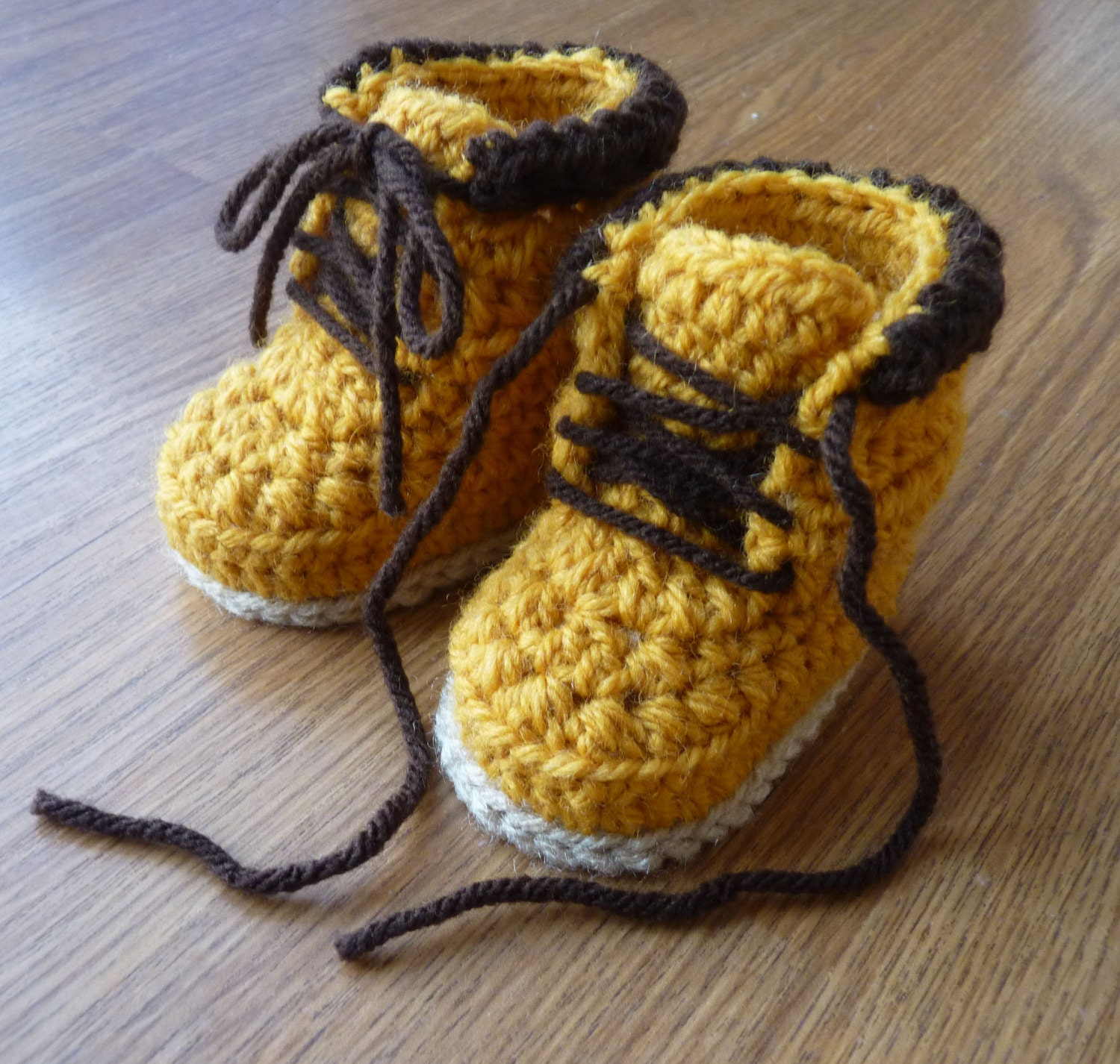 Custom Crochet Baby Work Boots