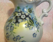 Vintage Lefton China Hand Painted Forget-Me-Not Pitcher