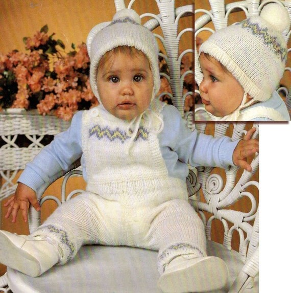 Knitting Pattern For Toddler Overalls : Baby Boy Knitting Pattern Baby Bib Overalls Knitting Pattern