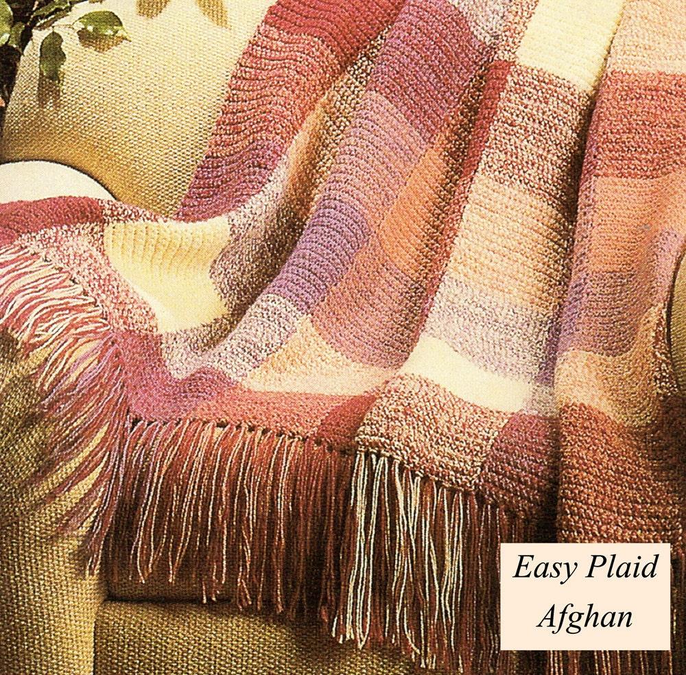Crochet Pattern Plaid Afghan : Afghan Crochet Pattern Crochet Plaid Afghan Pattern Crochet