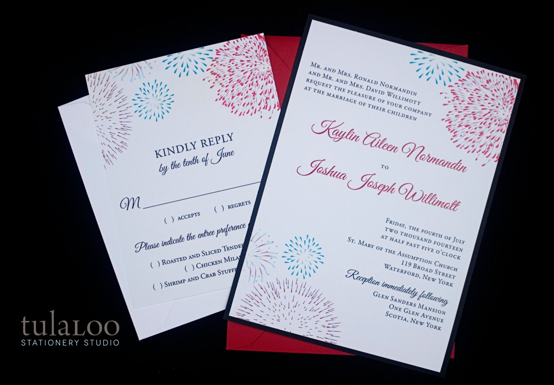 Firework Wedding Invitations - home decor - Mrsilva.us