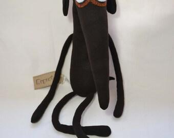 Greyhound dog handmade plush toy