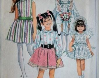 Vintage 60's Simplicity 8171 Sewing Pattern, Girls' Dress, Flower Girl Dress, Size 12, 30 Breast, Factory Folded