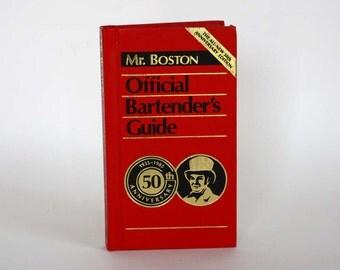 Mr. Boston Official Bartender's Guide 50th Anniversary Edition - Vintage Recipe Book c. 1984
