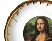 Mona Lisa Limoges Plate, Vintage Collectible Plate, Porcelain Dish