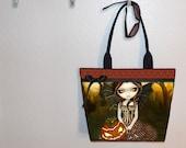 Halloween Twilight bag, Jasmine Becket Griffith tote bag, book tote, large purse, canvas tote, shoulder bag