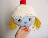 Blonde Teenager Wall Hanger · Rubita · One-of-a-kind doll rack. Rag doll wall hook. Wall decoration. Home decor