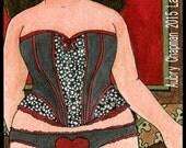 Valentine corset heart 5x7 print