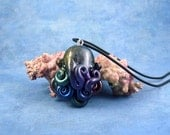 Deep Space Octopus Necklace, Handmade Polymer Clay Astronomy Necklace