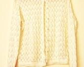 Vintage Knit White Sweater