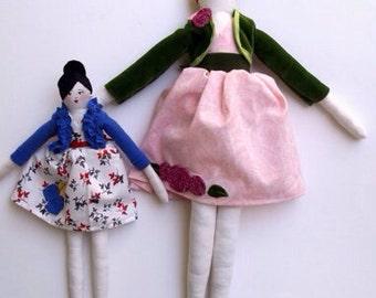Custom Cloth Art Doll, 18 inches tall