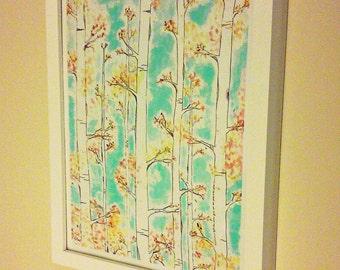 Ready to Hang Art, Any 11x14 Print in White Wood Frame, Living Room Art, Framed Artwork, Framed Art, Living Room Decor, Housewarming Gift