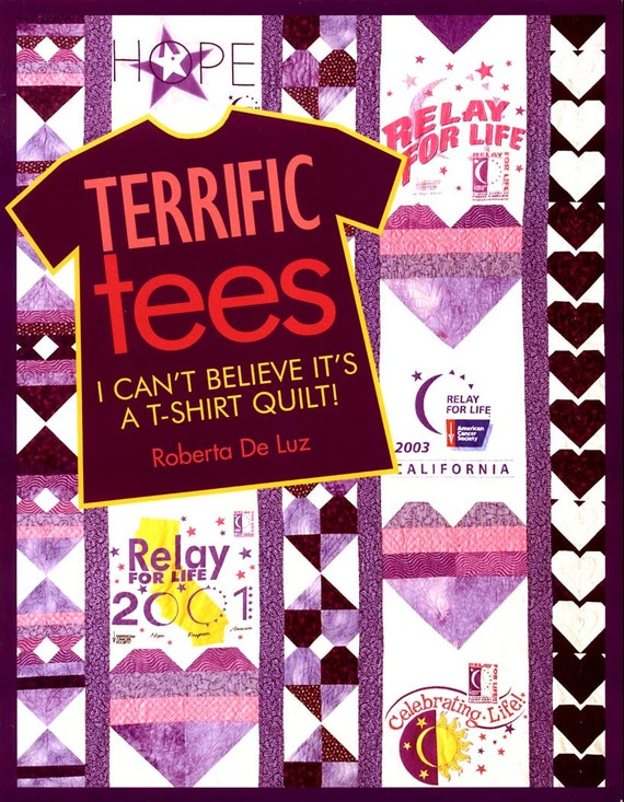 T Shirt Quilt Pattern Book : T-Shirt Quilt Pattern Book Terrific Tees I Cant by ladydiamond46