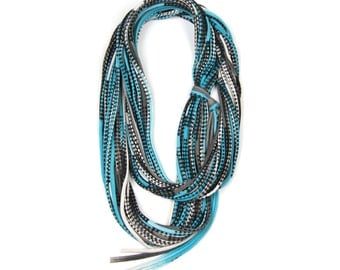 Infinity Scarf, Necklace, Turquoise Circle Scarf, Turquoise Infinity Scarf, Turquoise Scarf, Scarves Turquoise,