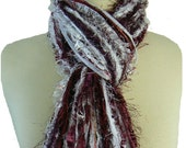 Mississippi State Bulldogs - College Scarf Football Scarves - Maroon and White
