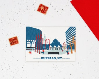 A Buffalo NY Cards, A Winter Wonderland, Made in Buffalo, Ice Skating