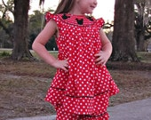 Minnie Mouse Smocked Short Set