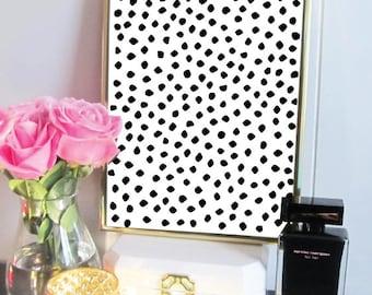 Black Abstract Dot Print -  Abstract Art - Modern Art Print - Dots - Inspirational Wall Art