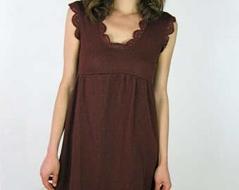 Pretty Brown Woven Mini Dress