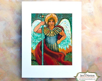 Saint Michael the Archangel, Catholic Biblical Wall Art Print, Guardian of the Church