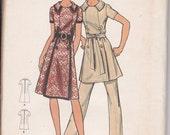 1960s Dress & Pant Suit Pattern - Butterick Sewing - UNCUT - 14.5