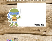 TMNT Friends- Set of 8 Blue Turtle Thank You Cards by The Birthday House