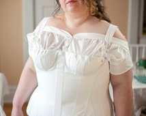 Regency Corset in Standard Plus Sizing, Historical Empire Stays for 1800 - 1820's Costuming, Reenactment, Living History