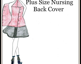 Sewing Designer Plus Size Kit-Nursing Back Cover Kit Addition-Pre Cut Fabric Pattern to Go with Any Plus Size Feeder FRONT Frock Sewing Kit