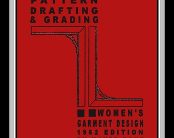 1950s-PATTERN DRAFTING & GRADING Ebook-Stunning Glamour Wardrobe-Fashion Design-Lessons-Hundreds of Illustrations-162 Pages-M.Rohr-Pdf