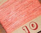 NEW! 10 yards SALMON waxed Irish linen thread