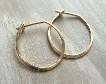 Small Gold Hoop Earring -  Perfect Hoops
