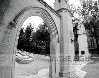 Indiana University Sample Gates - Black & White Fine Art Photograpy - 8x10, 11x14, other sizes available - fPOE