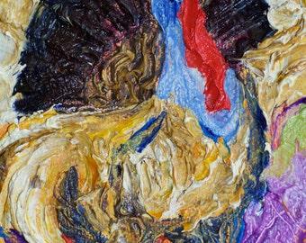Thanksgiving Turkey 4x6 Original Oil Painting by Paris Wyatt Llanso