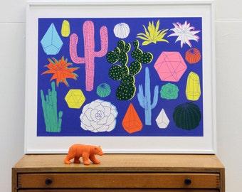 Cactus Print // Colourful Print // Botanical Print // Botanical Illustration