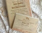 Vintage Elegant Wedding Invitations Handmade by avintageobsession on etsy
