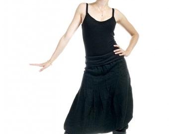 """harem pants woman black, black pants, pants ninja cool """"Back to the black"""""""