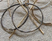 Just Right Ovals - dangling hoop earrings in a choice of metals - ready to ship